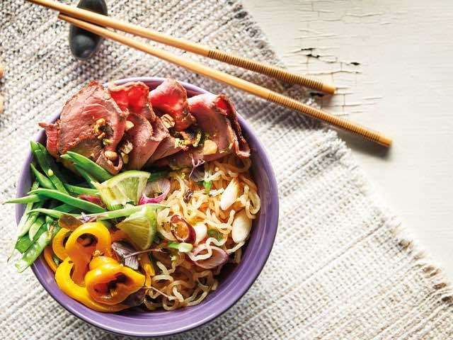 Lachs asiatisch zubereitet